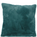Faux fur Pillows Lino, L45cm, B45cm, petrol